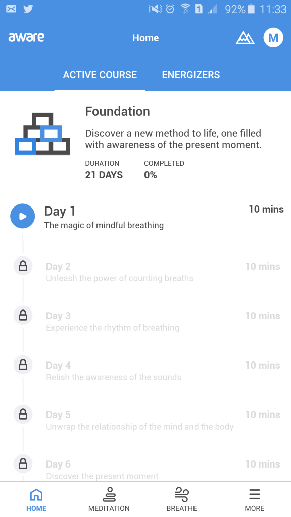Aware Guided Meditation App Review - Mindfulness And More