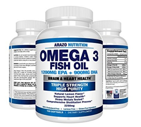 Best Omega 3 Fish Oil Capsules Supplements Arazo Nutrition