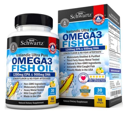 Best Omega 3 Fish Oil Capsules Supplements - Bio Schwartz