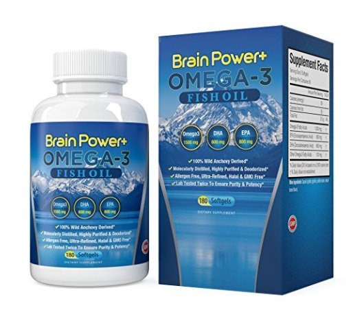 Best Omega 3 Fish Oil Capsules Supplements - Brain Power+
