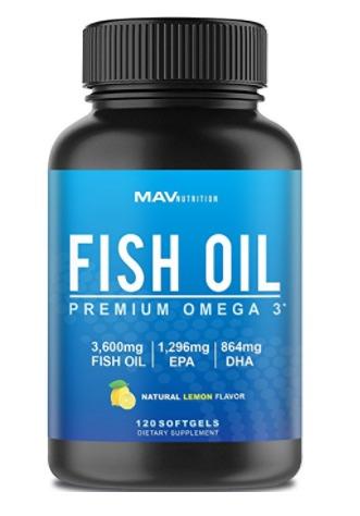 Best Omega 3 Fish Oil Capsules Supplements - Mav Nutrition